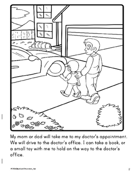 Social Story Coloring Book Series GOING TO THE DOCTOR Boy Version For Autism