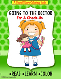 Social Story Coloring Book Series GOING TO THE DOCTOR (Girl version) for Autism