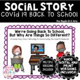 Social Story Covid 19 Back To School Print Digital and Vid