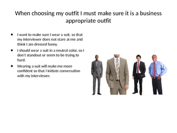 Social Story Dressing for a Job Interview