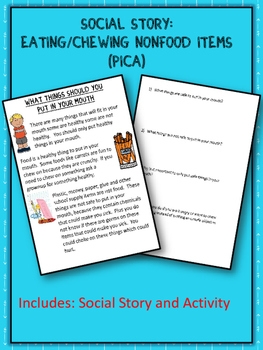Social Story: Eating Nonfood Items (Pica) (Autism/Behavior)
