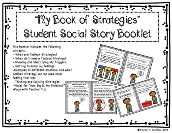 """Social Story """"Emotions and Toolbox Strategies"""""""