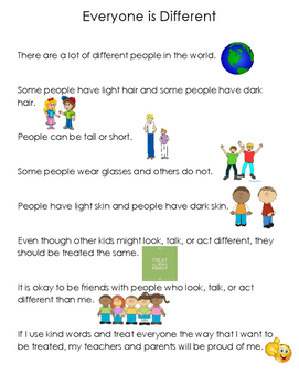 Social Story - Everyone is Different