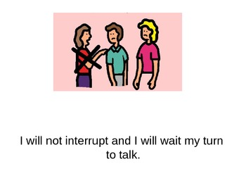 Social Story: Excuse Me. How to interrupt politely