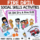 Social Story Fire Drill Print Digital Video