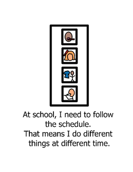 Social Story Follow School Routine Autism Behavior Management