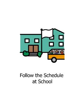 Social Story Follow School Routine Autism Behavior Management