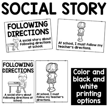 Social Story: Following Directions