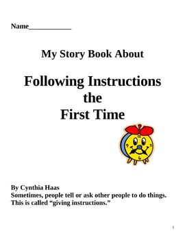 Social Story: Following Instructions the First Time