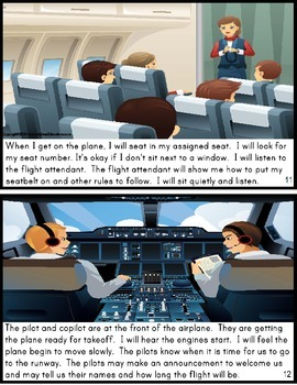 Social Story GOING ON AN AIRPLANE for Autism/Special Education
