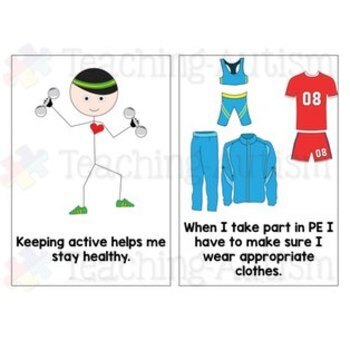 Social Story Getting Changed for PE