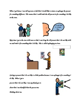 Social Story: Getting a Present