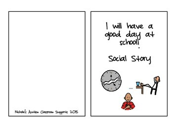 Social Story Good Day At School by Nichole's Autism Classr