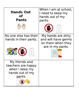 Social Story: Hands Out of Pants