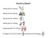 Social Story - Hands to Myself/No Hitting