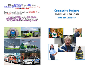 Social Story: Help! I'm Lost! Community Helpers
