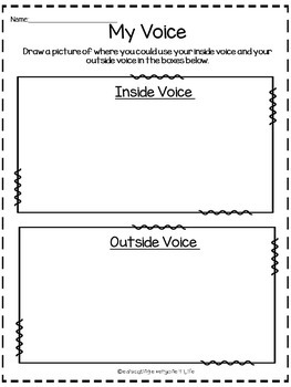 Social Story How To Use My Voice In The Classroom