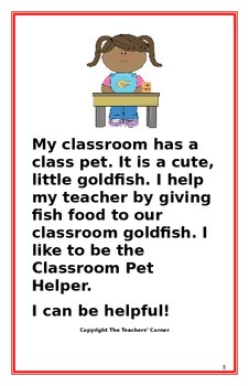 """Social Story- """"I Can Be Helpful"""": A Better Behavior Booklet"""