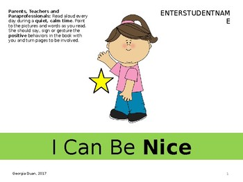 Social Story I Can Be Nice English Asl By Georgia Duan Slp Tpt