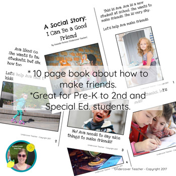 Social Story: I Can Be a Good Friend - How to Make Friends