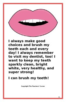 "Social Story- ""I Can Brush My Teeth"""