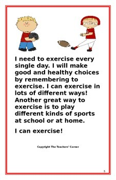 "Social Story- ""I Can Exercise"""