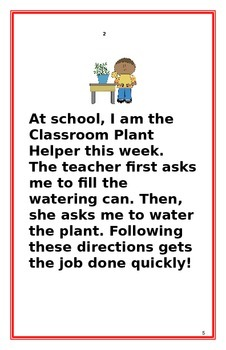 """Social Story- """"I Can Follow Directions"""": A Better Behavior Booklet"""