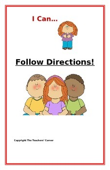 "Social Story- ""I Can Follow Directions"": A Better Behavior"