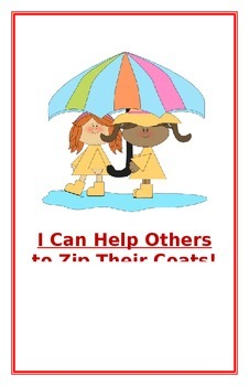 """Social Story- """"I Can Help Others to Zip Their Coats"""""""