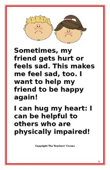 """Social Story- """"I Can Be Helpful to My Friend who is Physically Impaired"""""""