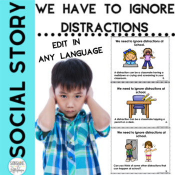 Social Story I Can Ignore Distractions Editable in ANY Language