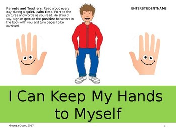 Social Story: I Can Keep My Hands to Myself (Teenager)