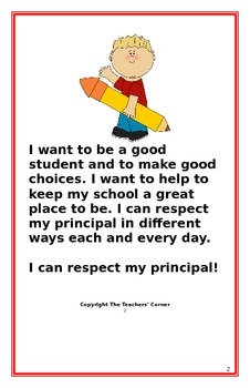 "Social Story- ""I Can Respect My Principal"""