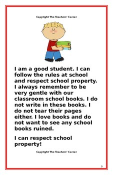 "Social Story- ""I Can Respect School Property"""