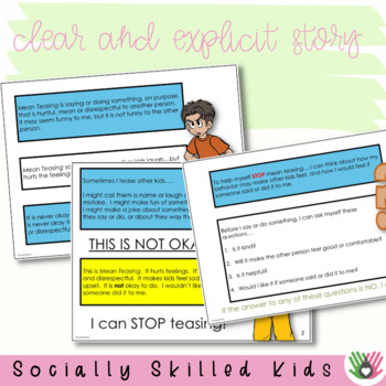 SOCIAL STORY I Can STOP Teasing! {For 3rd-5th Grade or Ability Level}
