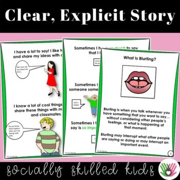 SOCIAL STORY I Can STOP Blurting! {For Boys and Girls, 3rd-5th Grade or Ability}