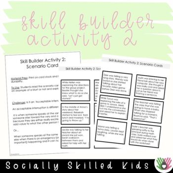 SOCIAL STORY  I Can Stop Blurting! { For Girls, 3rd-5th Grade or Ability}