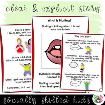 SOCIAL STORY: I Can Stop Blurting! {For Boys and Girls, k-2nd Grade/Ability}