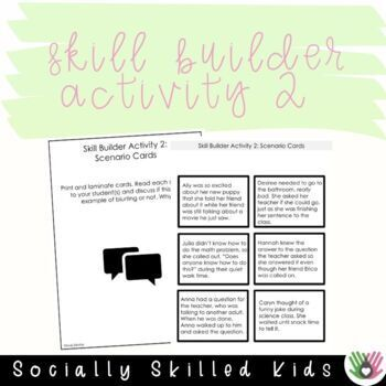 SOCIAL STORY  I Can Stop Blurting!  {For Girls, k-2nd Grade or Ability}
