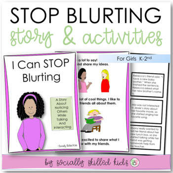 SOCIAL STORY: I Can Stop Blurting! {For Girls, k-2nd Grade