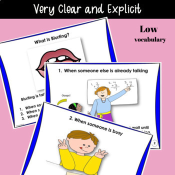SOCIAL STORY: I Can Stop Blurting! {For Boys and Girls, Pre-k Grade or Ability}