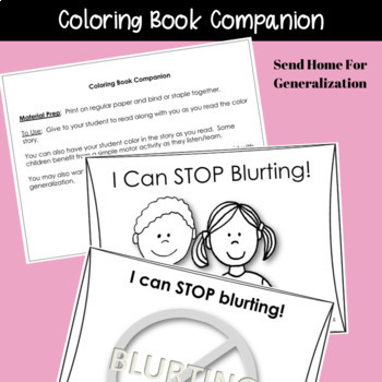 SOCIAL STORY  I Can Stop Blurting! {For Boys and Girls, Pre-k Grade or Ability}
