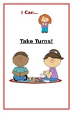 """Social Story- """"I Can Take Turns"""": A Better Behavior Booklet"""