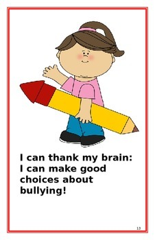 """Social Story- """"I Can Make Good Choices about Bullying"""":A B"""