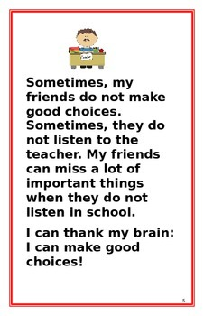 "Social Story- ""I Can Make Good Choices"": A Better Behavior Booklet"