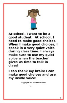 "Social Story- ""I Can Use My Inside Voice"": A Better Behavior Booklet"