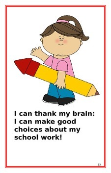 """Social Story- """"I Can Do My School Work"""":A Better Behavior Booklet"""