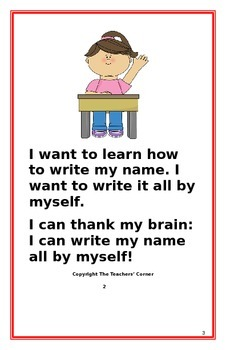 "Social Story- ""I Can Write My Name"""
