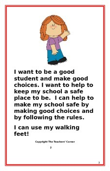 "Social Story- ""I Can Use My Walking Feet"": A Better Behavior Booklet"