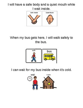 Social Story - I Can Wait For The Bus Inside